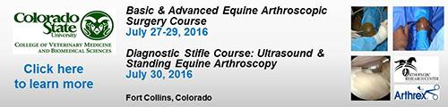 Colorado State University Arthroscopy course ad