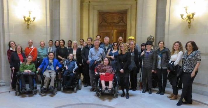 group of carla_s friends at City Hall