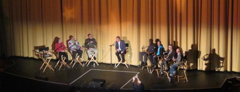 7 men who appeared in the movie and Tom Ammiano talking on stage