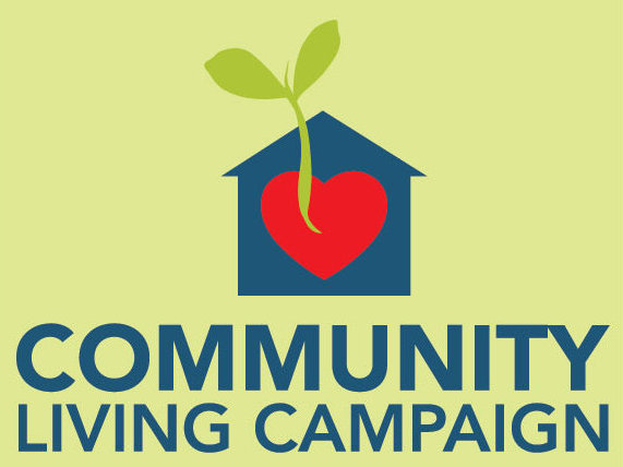 Community Living Campaign Logo on green background
