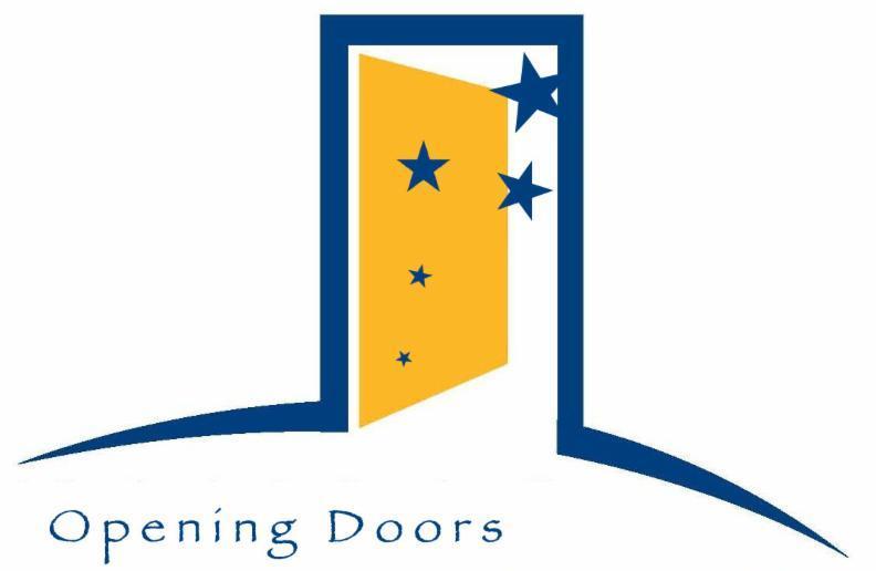 Opening door graphic
