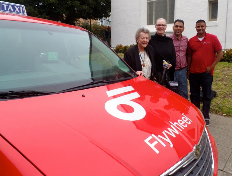flywheel taxi with seniors