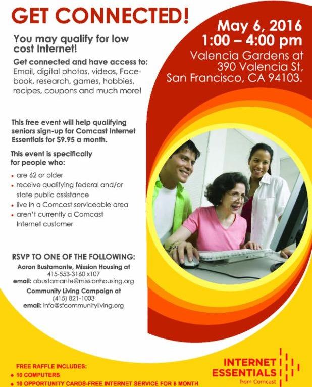 flyer for new Comcast event