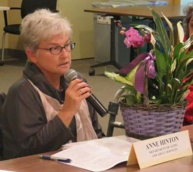 Anne Hinton at the meeting
