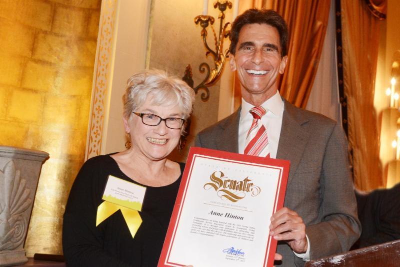 Anne Hinton and Senator Leno