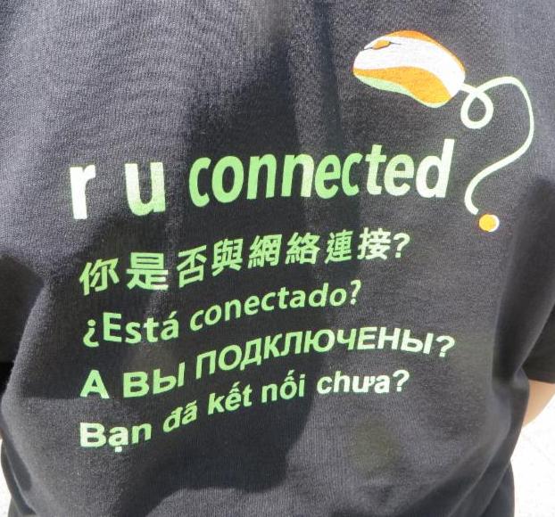 t-shirt back saying