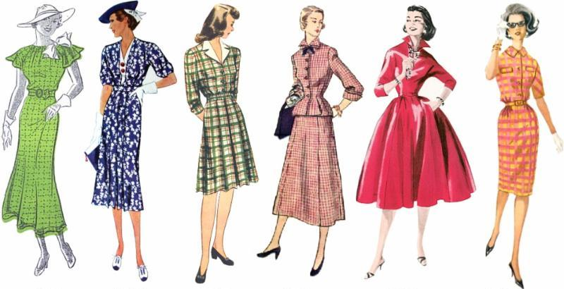ladies with vintage clothes