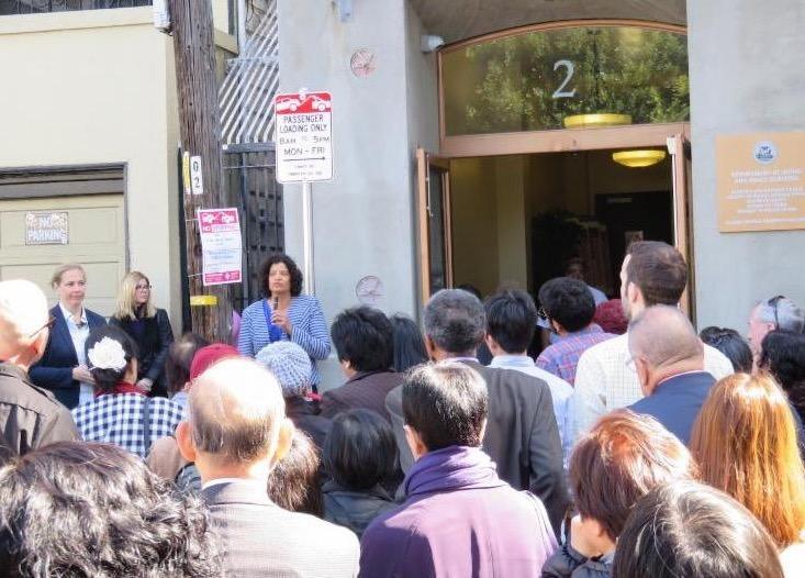 shireen talking at opening of 2 gough site