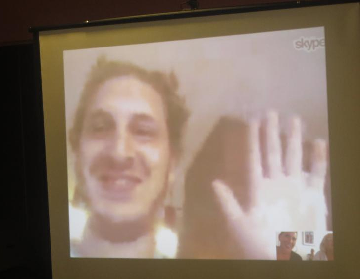 young man on Skype from Africa