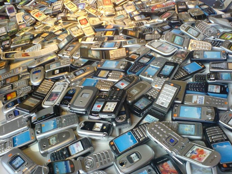 Cell phone pile