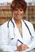Occupational Health Nurse at Desk