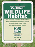 Certified Wildlife Sign