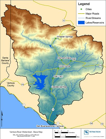 Ventura County Watershed Map