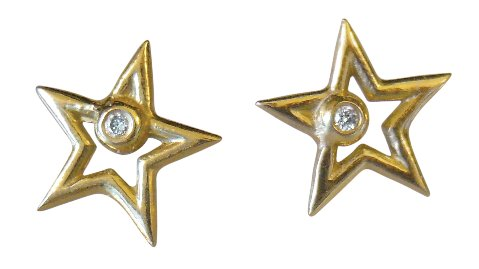 Star earrings- gold