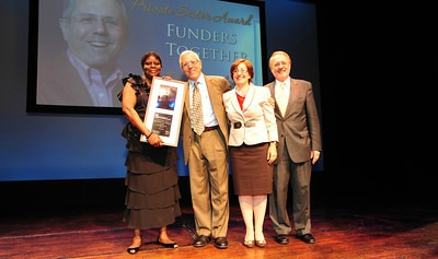 Annd David accept NAEH award