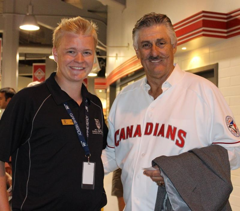 Kirk and Rollie Fingers at Nat Bailey Stadium
