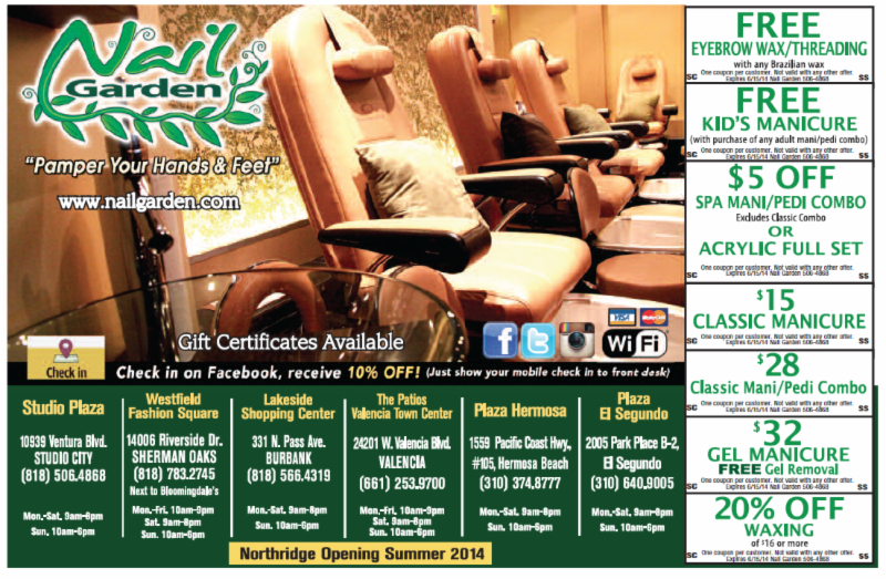 Nail Garden MAY Promotions YOU ARE INVITED TO OUR HERMOSA ...