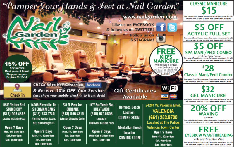 Nail Garden February Promotions Bring in these coupons to any Nail ...