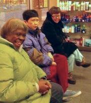 Consumers wait for a haircut at Hair Cuttery.