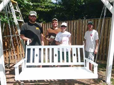 Veris Group paints a bench