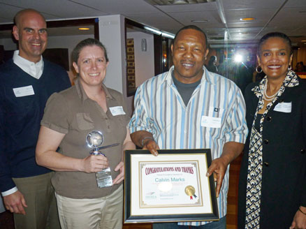 Calvin Marks is recognized for 25 years of service with Pathway Homes
