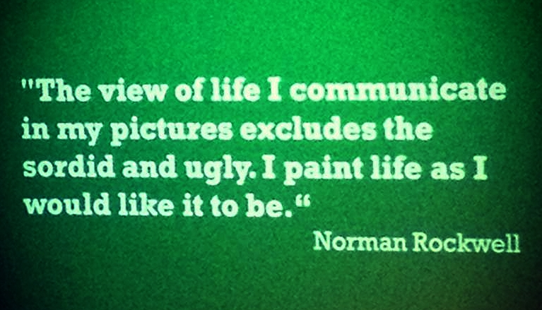 Norman Rockwell Quote