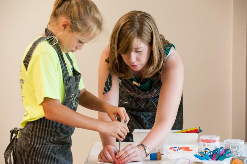 Adult and Child Artmaking