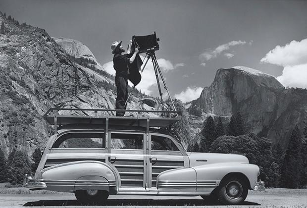 Ansel Adams on Wagon