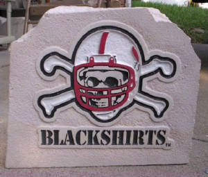 Blackshirt garden rock