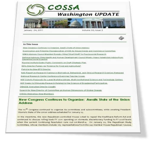 COSSA Washington Update