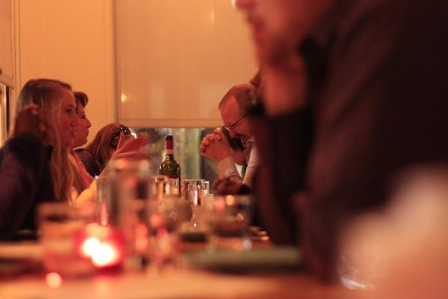 Restaurant bustles