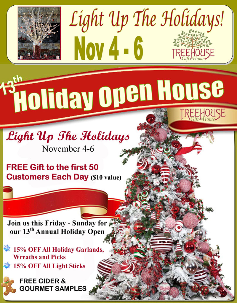 Treehouse Holiday Open House