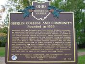 Oberlin Heritage Marker