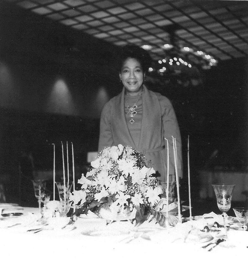 Judge Burke at the Dining Decor Event