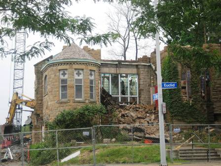 Euclid Avenue COG being demolished