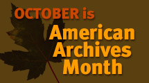 Archives Month logo