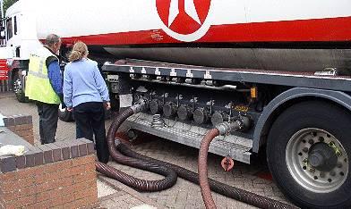 tanker delivering