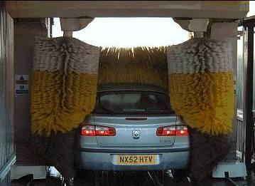 Car in wash