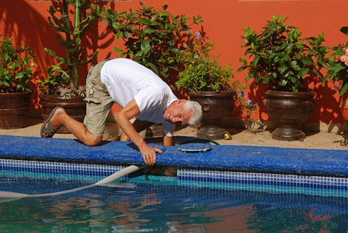 Robert Cleaning pool Caring for property