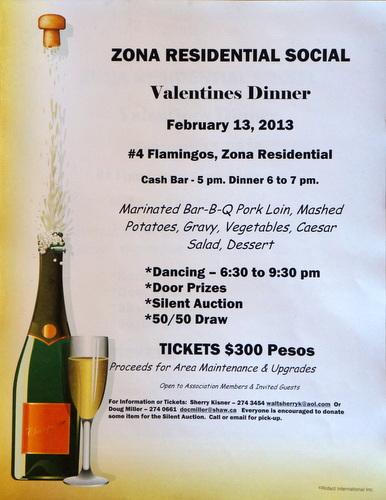 Zona Residencial Valentine's Dinner