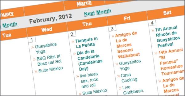 Jaltemba Bay Community Calendar