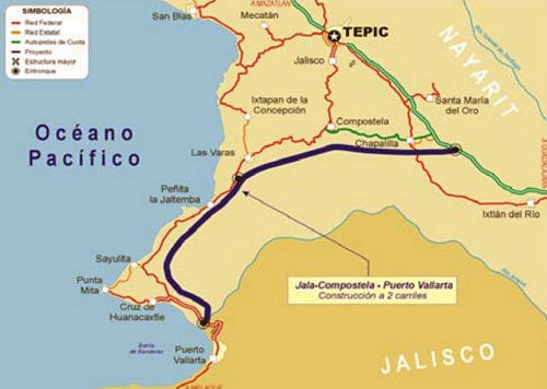 DT Jala to PV toll hwy map