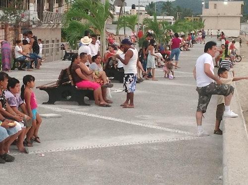 Malecon in La Penita