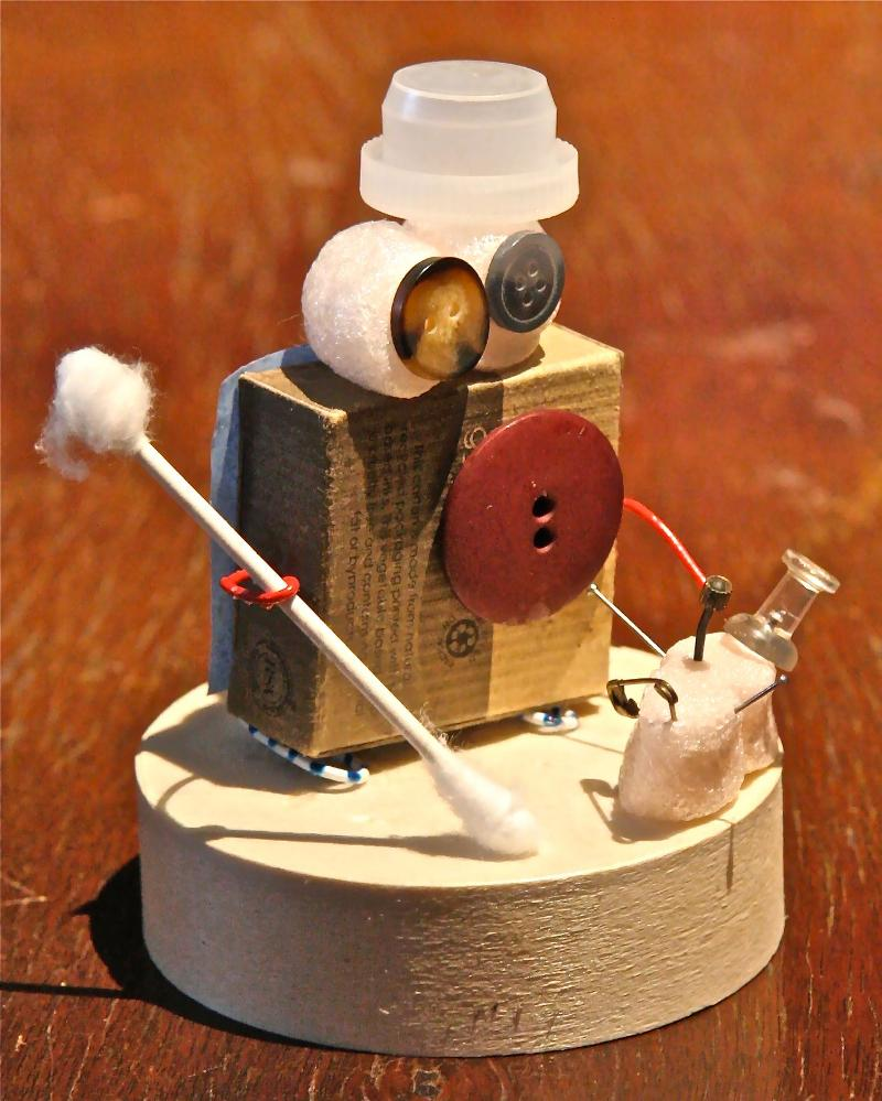 Figure by Adina, made from found objects