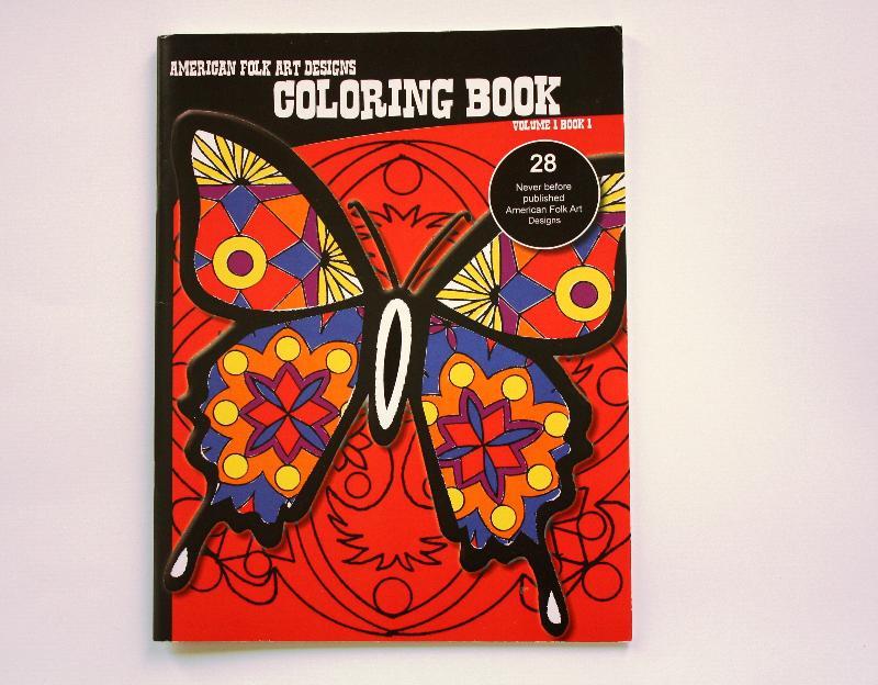American Folk Art Designs color book