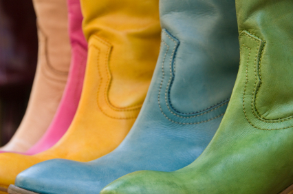 Rainbow Cowboys Boots
