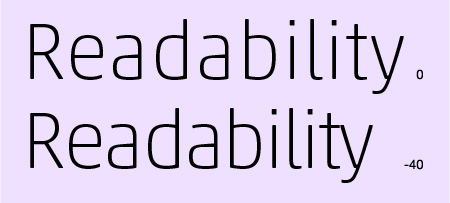 FontSpacing