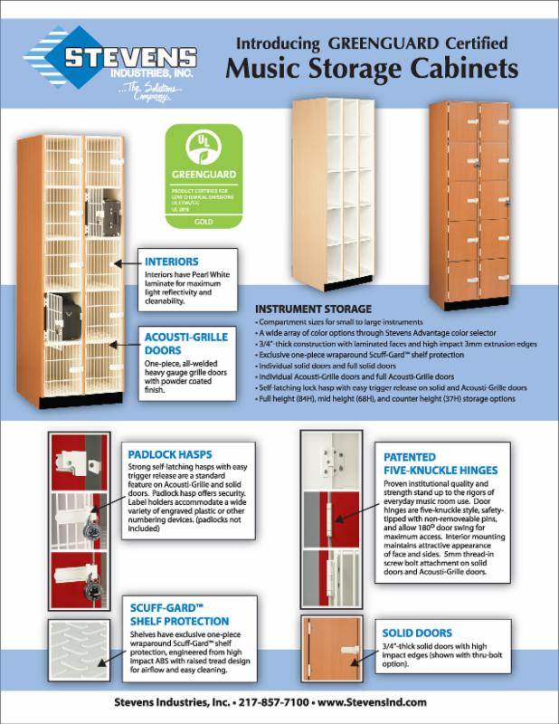 Music cabinet flyer