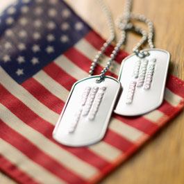 American Flag w/dog tags picture