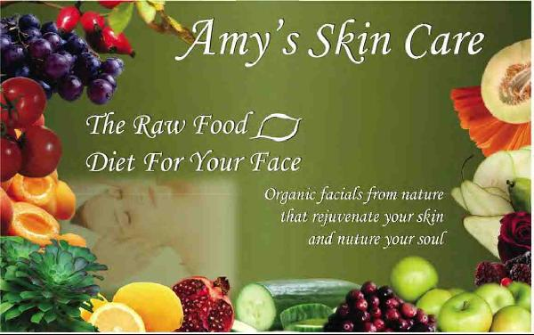 Amy Skin Care Postcard Graphic